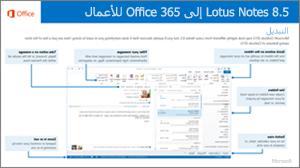 صورة مصغرة لدليل التبديل من IBM Lotus Notes إلى Office 365