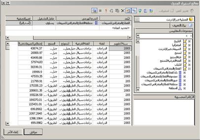 استعلام MDX لقاعدة بيانات جدولية نموذجية