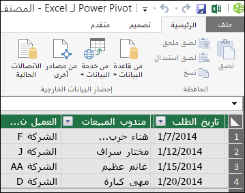 طريقه عرض power Pivot Table