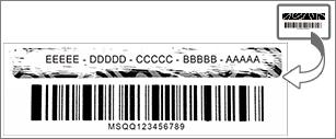 اخدش الطبقة الرقيقة للكشف عن مفتاح المنتج.