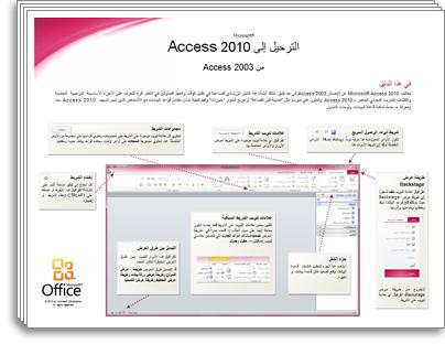 صورة مصغرة لدليل الترحيل لـ Access 2010
