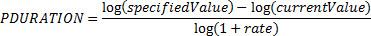 المعادلة PDURATION