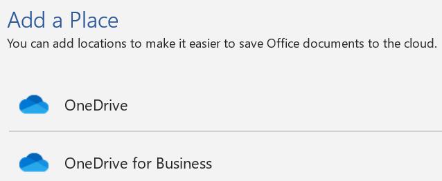 """لقطة شاشة للزر """"إضافة مكان"""" والقائمة """"إضافة مكان"""" في صفحة """"حفظ باسم"""" من Word."""