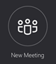 """الزر """"اجتماع جديد"""""""