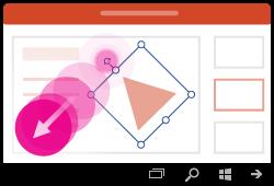 إيماءات تدوير شكل في PowerPoint for Windows Mobile