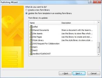 InfoPath 2010 - نشر نموذج