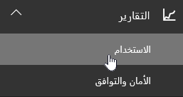 علي صفحه اداره اختر التقارير و# من ثم استخدامها من جزء التنقل الايمن