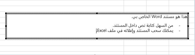 هذا العنصر المضمّن عبارة عن مستند Word.