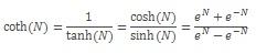 المعادلة COTH