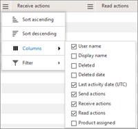 تقارير Office 365 - إدارة الأعمدة التي تظهر في جدول تفاصيل المستخدم