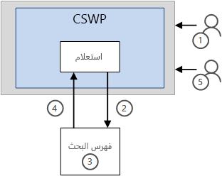 كيف يتم عرض النتائج في CSWP دون الميزه ذاكره التخزين المؤقت