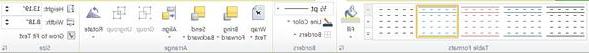 """علامة تبويب """"تصميم أدوات الجدول"""" في Publisher 2010"""