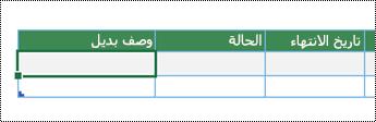 لقطة شاشة لإنشاء رسم تخطيطي للعرض المصور للبيانات في Excel