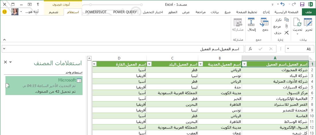 شريط الاستعلام في SAP