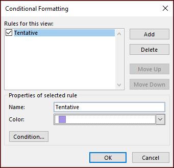يمكنك تعريف كونديتوينال عديده قواعد التنسيق.