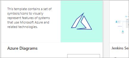 إظهار قالب Azure Diagram