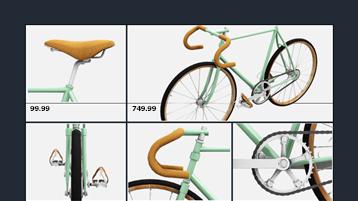 إنشاء جدول بيانات دراجة مخصص