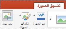 """الزر """"نص بديل"""" على الشريط في PowerPoint for Mac"""