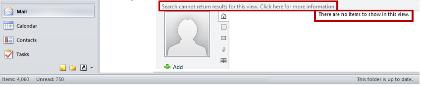 Microsoft Social Connector feature message