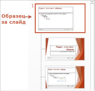 Избор на образеца за слайд