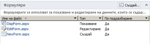 Формуляри на SharePoint Designer