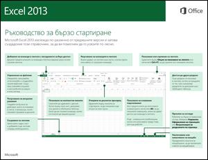 Ръководство за бързо стартиране в Excel 2013