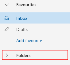 Изглед на папка в Outlook.com