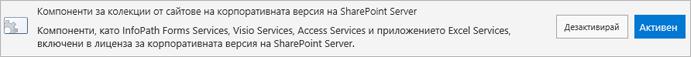 Активиране на функции на SharePoint Server Enterprise колекция от сайтове