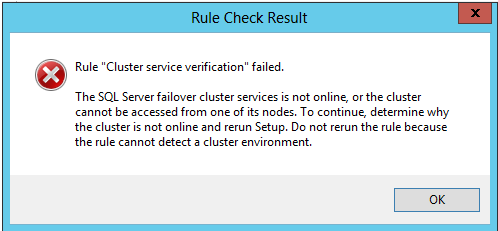 When you view the details, you receive an error message that resembles the following