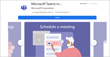 Изберете Microsoft Teams за G Suite