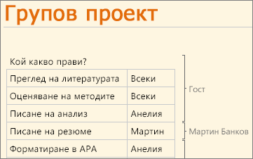 Няколко автори, работещи в OneNote Web App