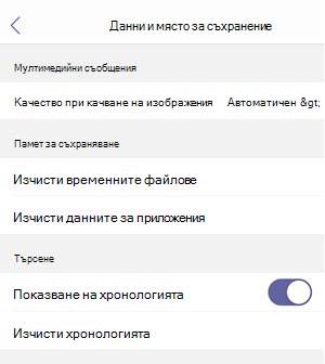 данни и място за съхранение в iOS