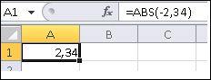 Формулата е показана в лентата за формули