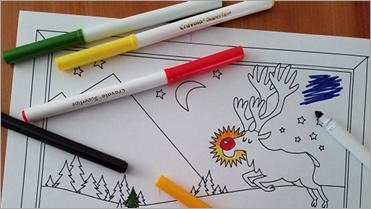 Показва страницата за празнично оцветяване