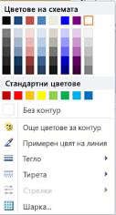 Опции за форматиране на контури на фигури WordArt в Publisher 2010