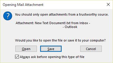 Прозорец на прикачен документ