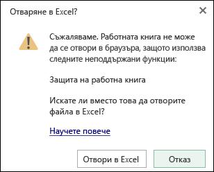 Диалоговия прозорец, когато отваряте работна книга, защитени с парола в Excel Web App