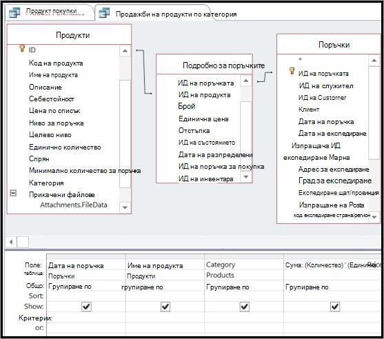 Създаване на необходими връзки с междинна таблица
