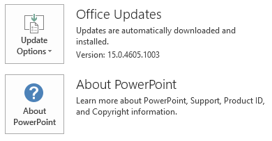 The screenshot for PowerPoint click to run