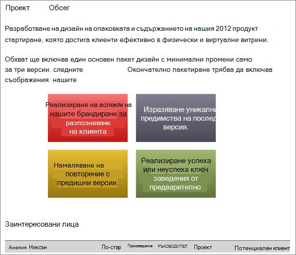 Пример на страница със споделен документ на Word