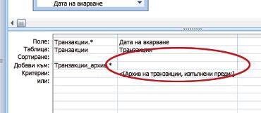 Ред на мрежата добави към проектиране на заявки