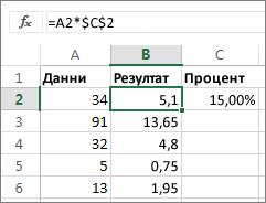 Умножаване на числа с процент