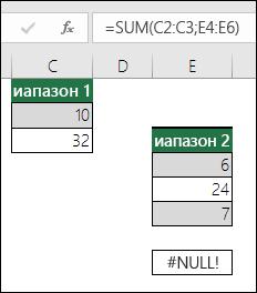 Грешка #NULL!