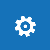Изображение на плочка със зъбно колело, внушаващо концепцията за конфигуриране на глобални настройки за среда на SharePoint Online.