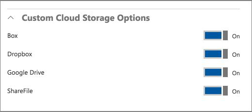 Опции за облаци
