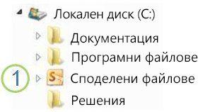икона на споделена папка в windows explorer