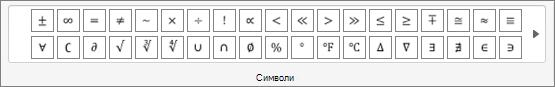 Символи на група
