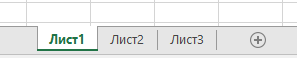 Разделите на работната книга на Excel, показан в дъното на прозореца на Excel