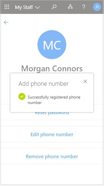 """Записване на добавения потребителски телефонен номер в """"Моят персонал"""""""