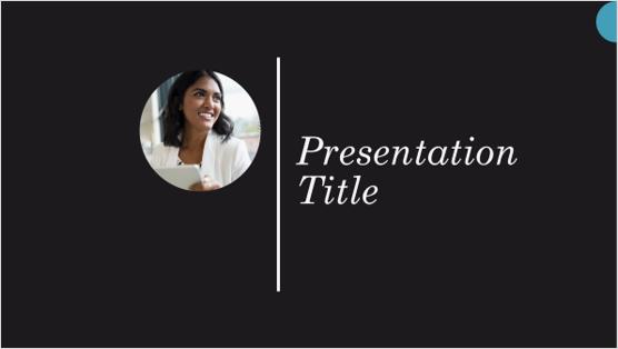 Изображение на шаблон за презентация на биография
